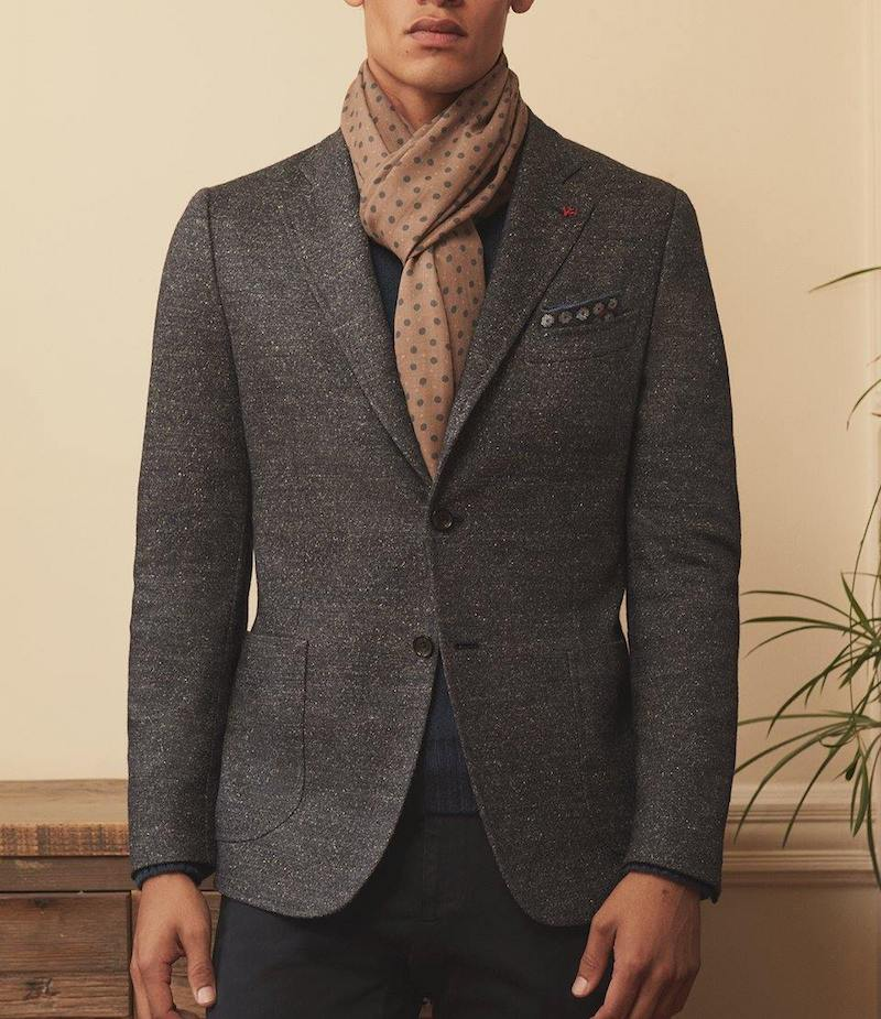 ISAIA Tweed Two Button Sportcoat