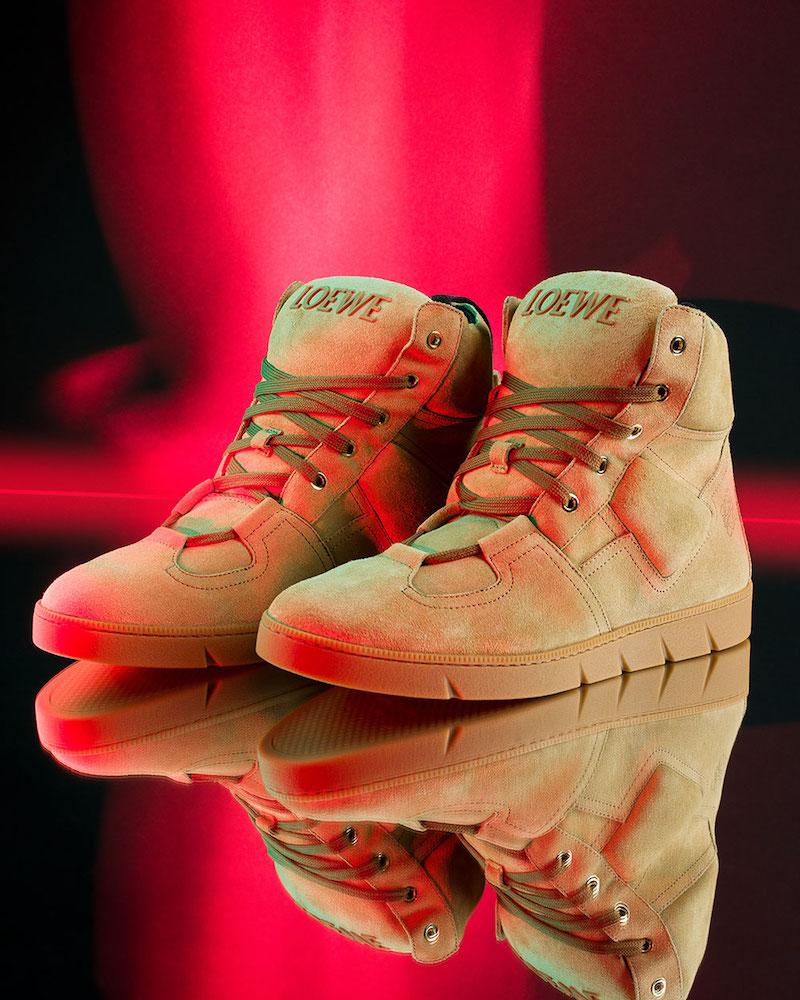 Loewe Suede High Sneakers