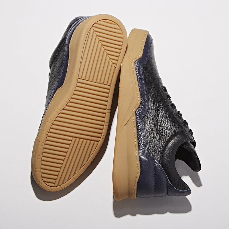 BNY Sole Series x Filling Pieces Black Leather Mid-Top Sneakers