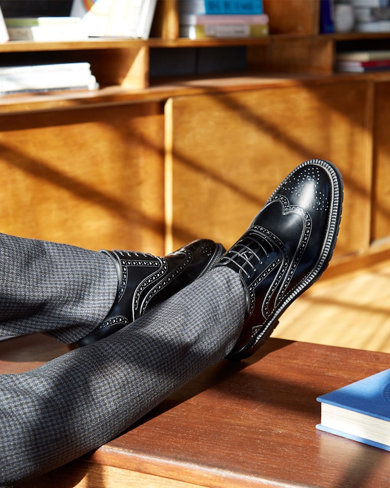 Burberry Wingtip Patent Grip Sole Brogues