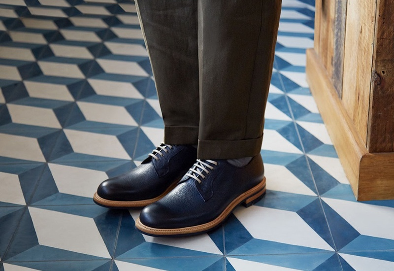 Cheaney Teign Grained-Leather Derby Shoes