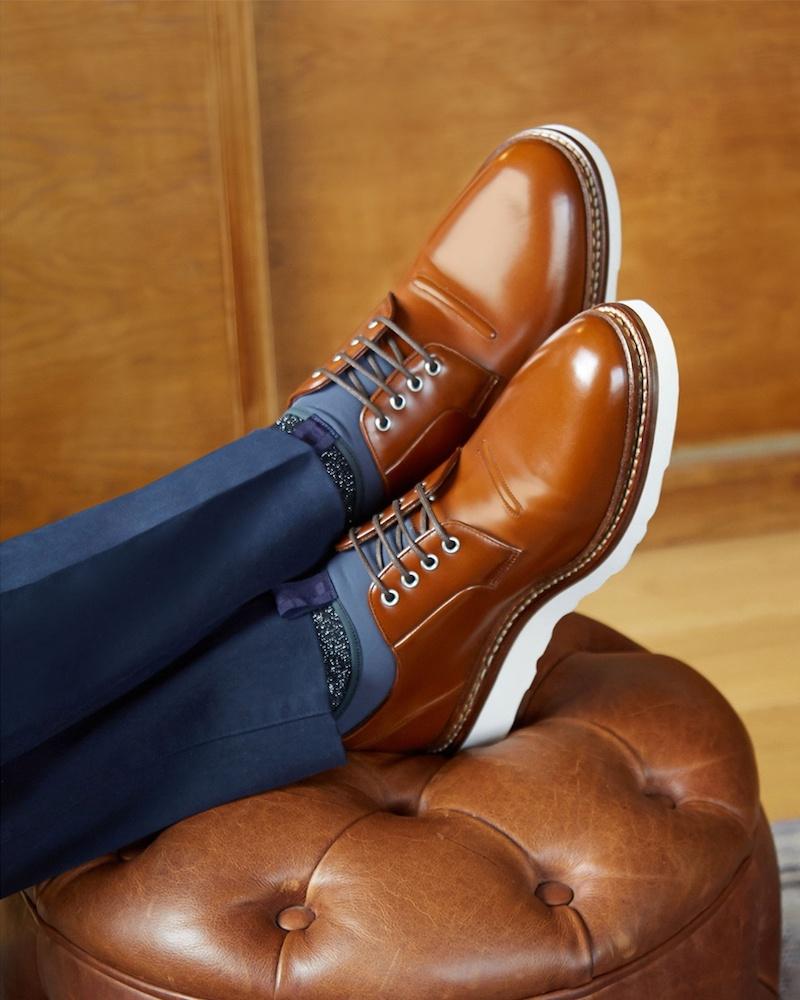 Paul Smith Colour-Block Cotton-Blend Socks