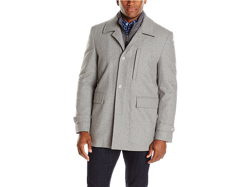 Nick Graham Upper West Side Wool Bib Front Car Coat