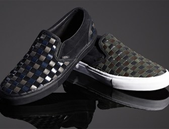 BNY Sole Series // Vans Woven Leather & Suede Slip-On Sneakers