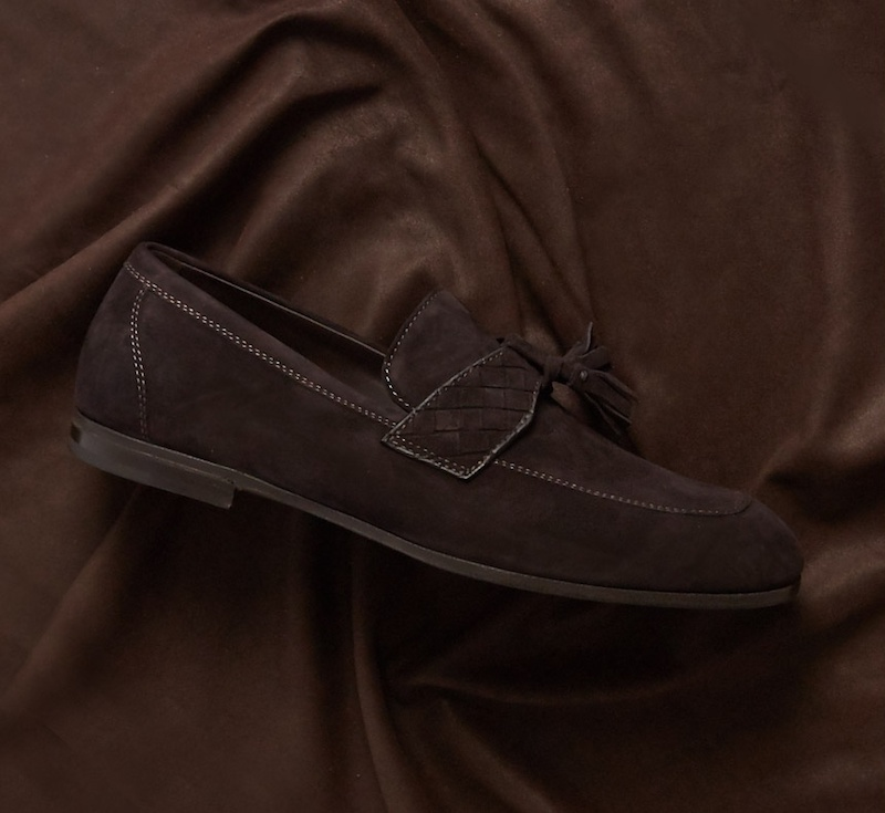 Bottega Veneta Intrecciato Tasselled Suede Loafers