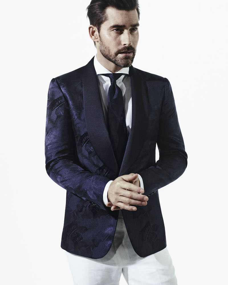 Ralph Lauren Purple Label Anthony Silk One-Button Dinner Jacket