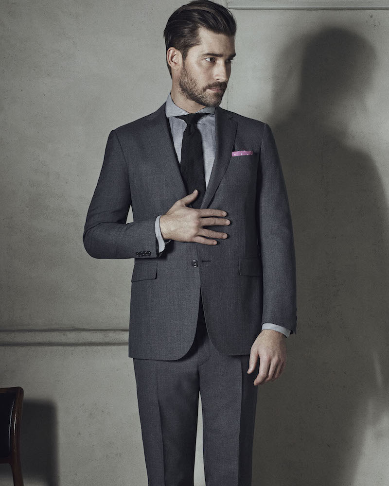 Ralph Lauren Purple Label Nigel Worsted Wool Two-Button Suit