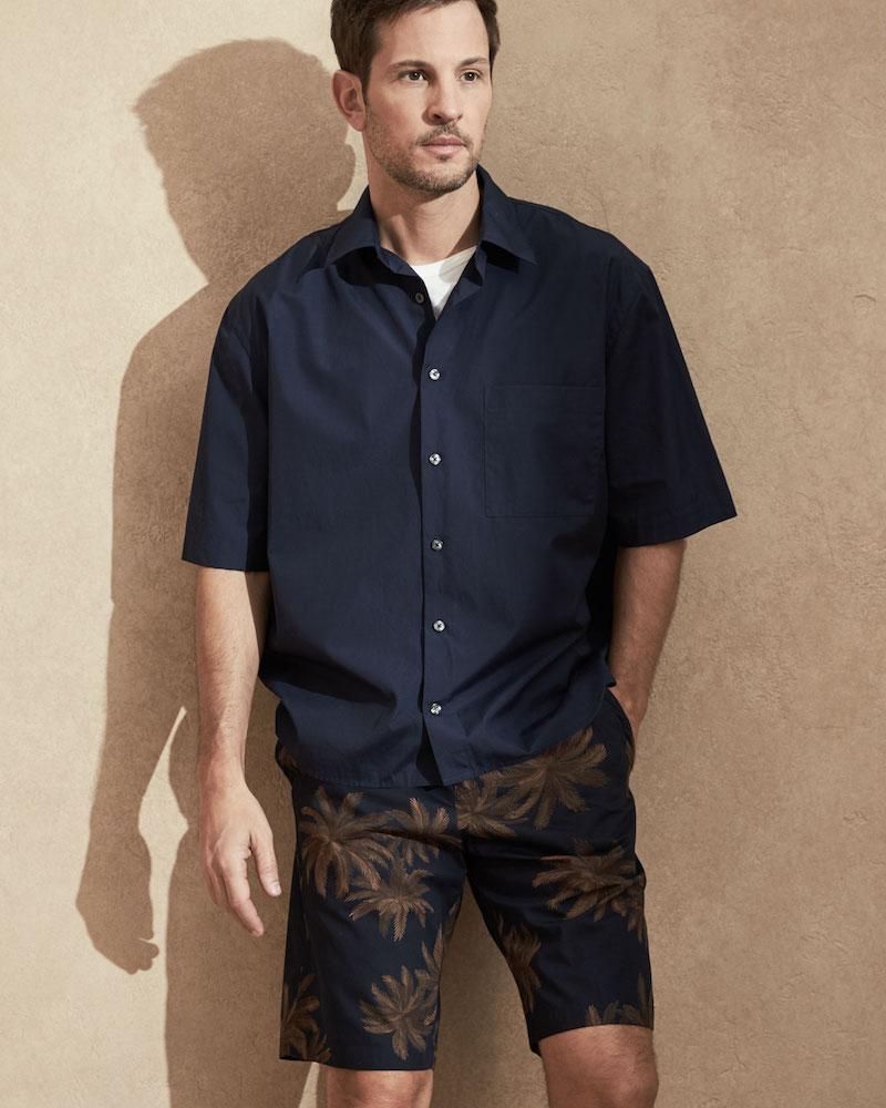 Vince Boxy-Fit Half-Sleeve Shirt