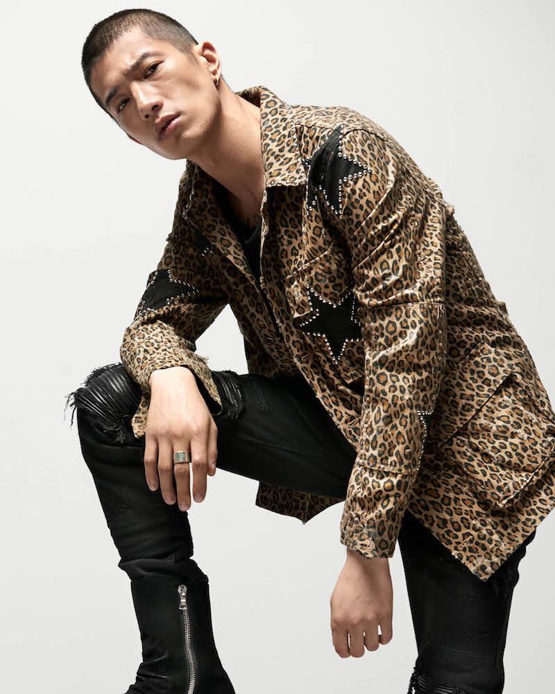 AMIRI Studded Leopard-Print Cotton Field Jacket
