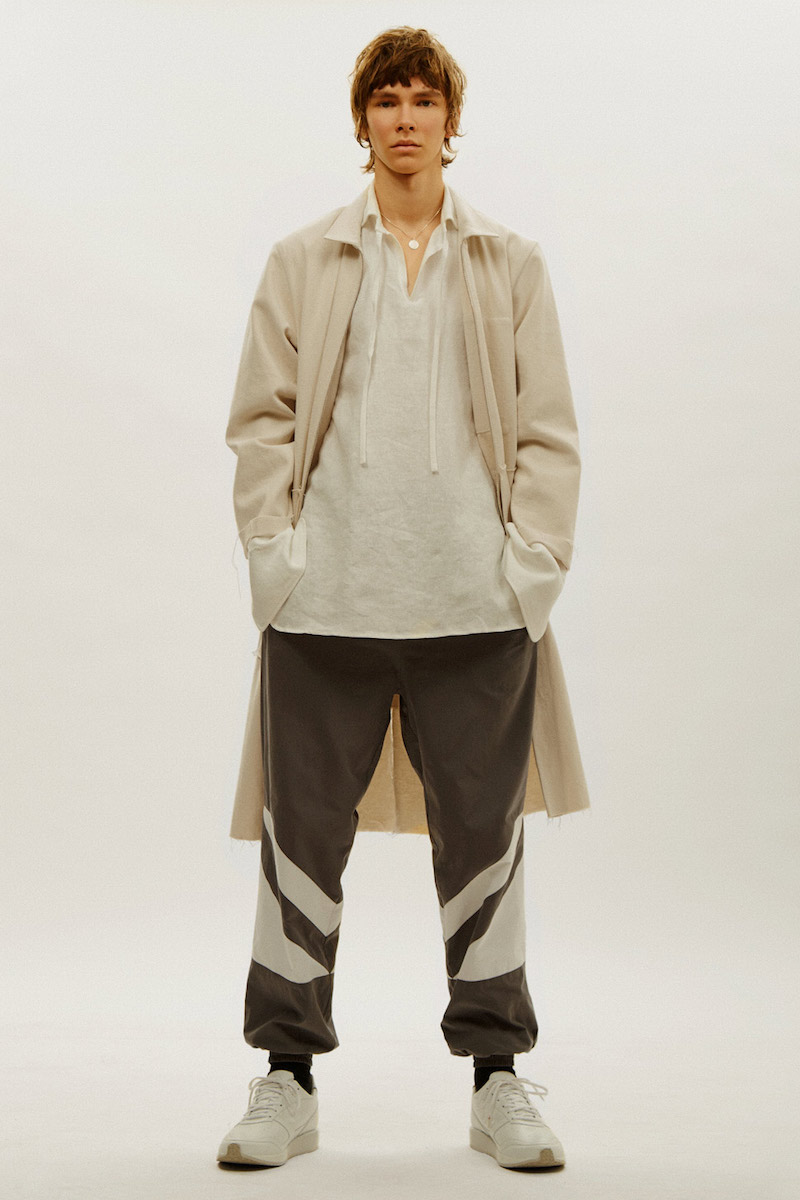 Camiel Fortgens Oversized Mid-Length Rough Trim Jacket