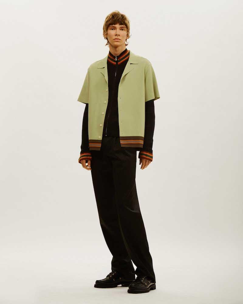 Valentino Striped Boxy Polo Shirt
