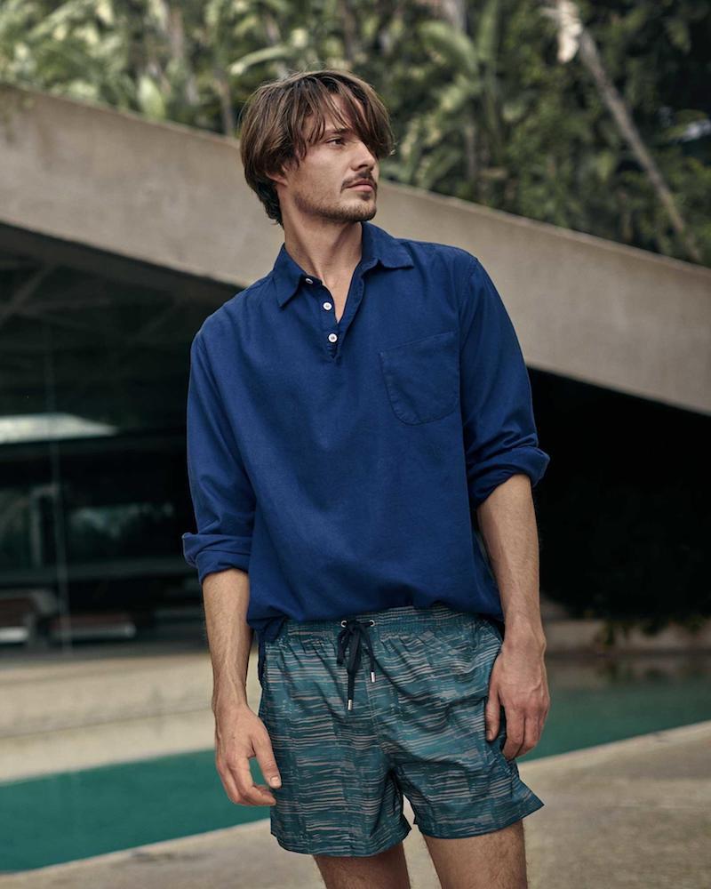 Barena Venezia Long-Sleeved Brushed-Cotton Polo Shirt