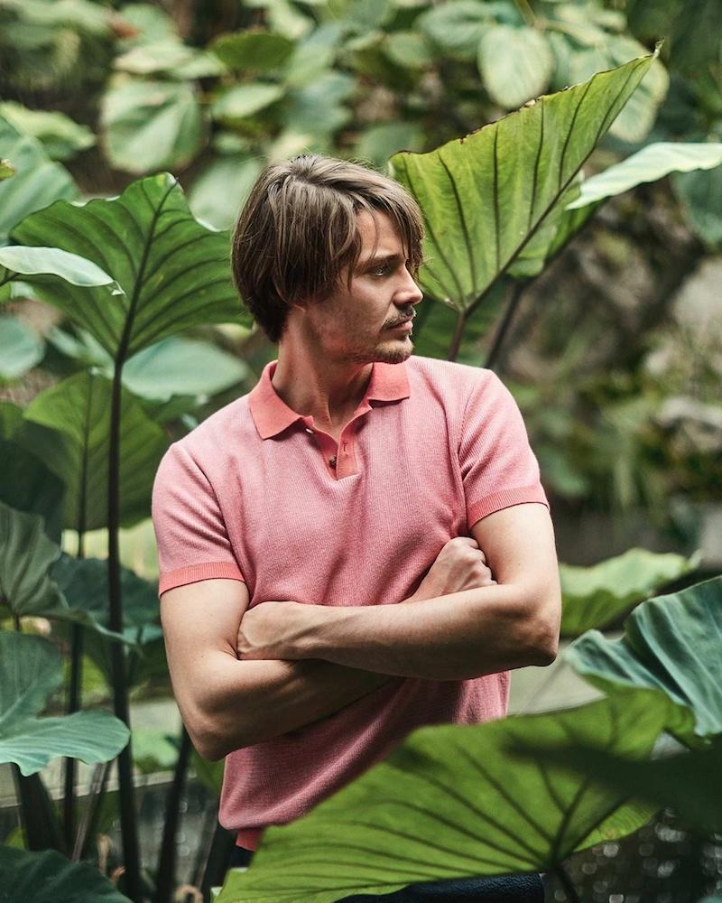 Orley Micro-Stitch Cotton Polo Shirt