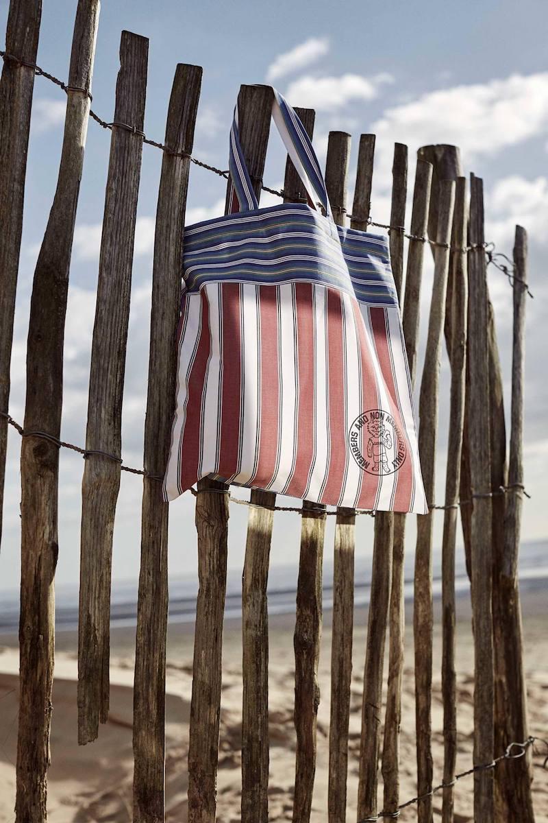 Stella McCartney Members-Print Striped Cotton-Canvas Tote