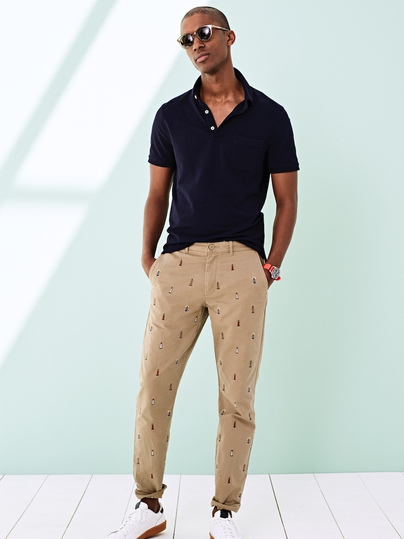 J.Crew Button-Down Collar Piqué Polo Shirt
