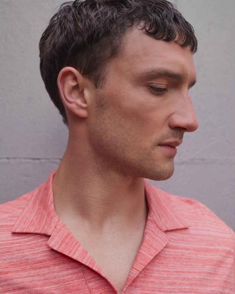 Orlebar Brown Felix Fine-Striped Cotton Polo Shirt