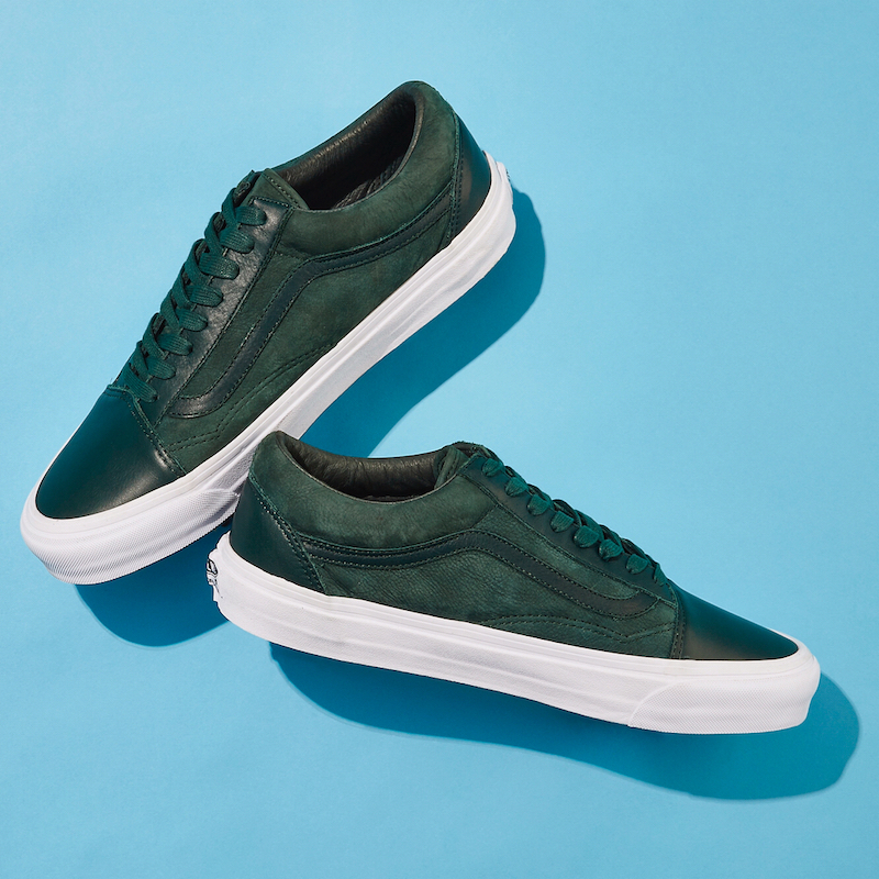 BNY Sole Series x Vans OG Old Skool Nubuck & Leather Sneakers in Green
