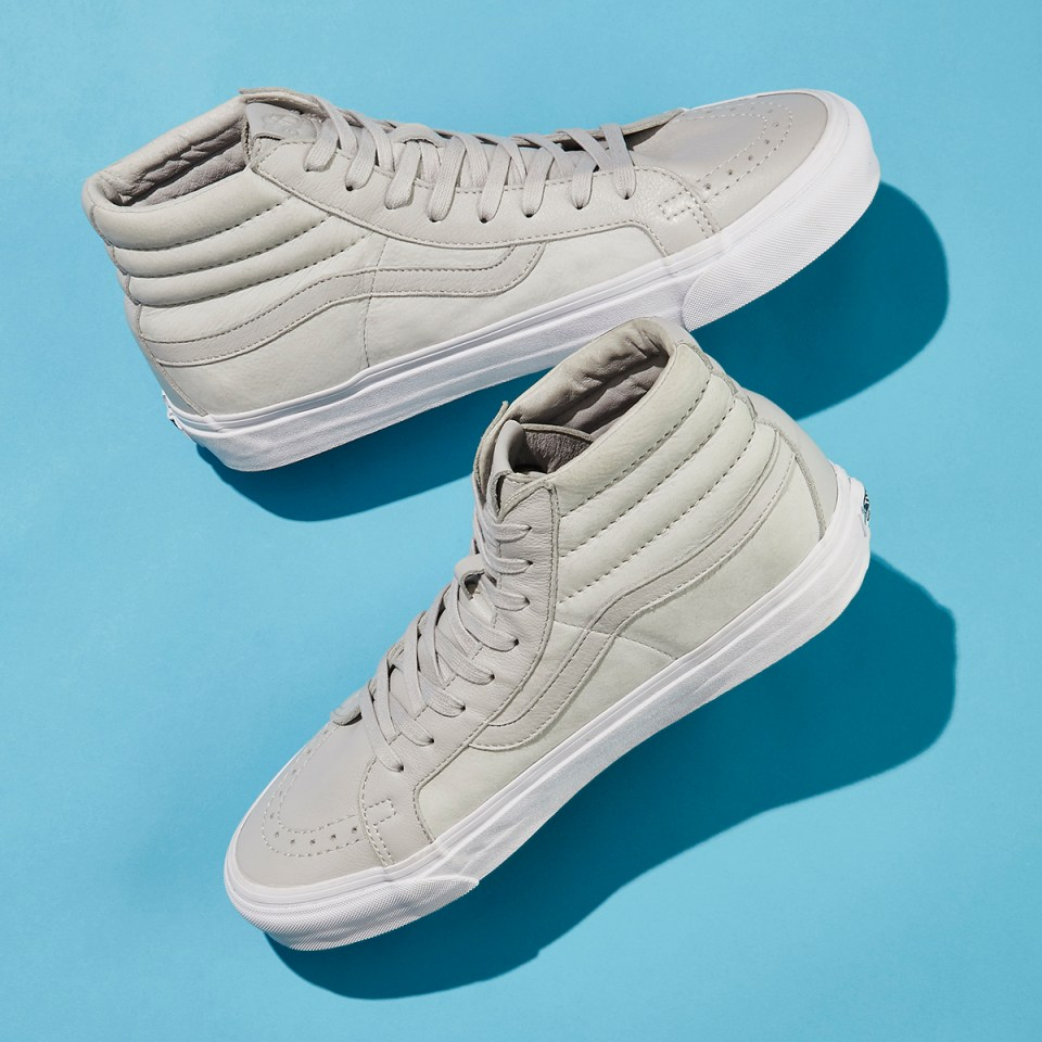 BNY Sole Series x Vans Sk8-Hi Nubuck & Leather Sneakers in Gray