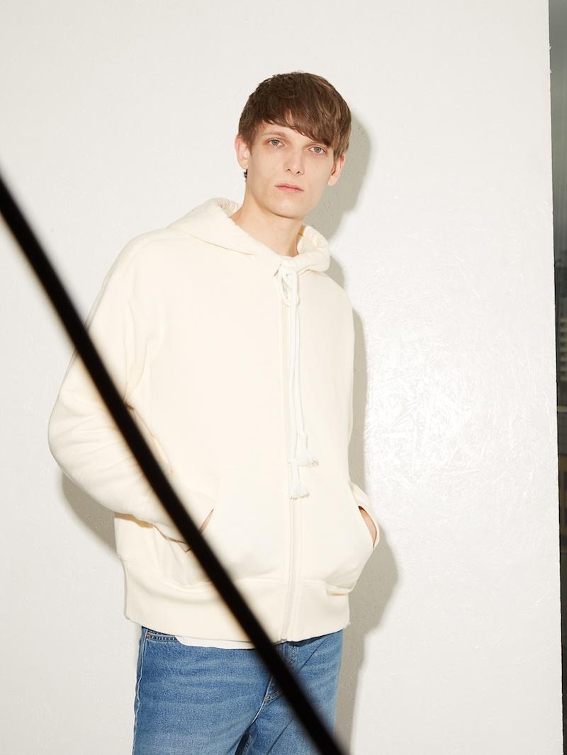 Raey Zip-Through Japanese-Jersey Hooded Sweatshirt
