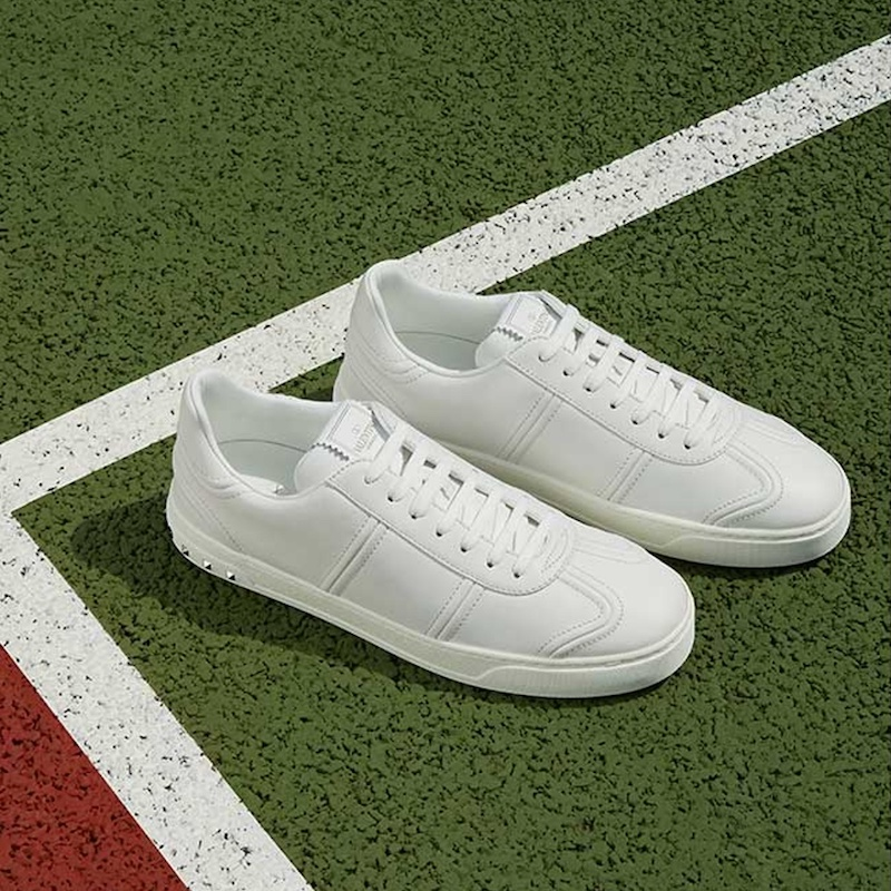 Valentino Flycrew Low-Top Leather Trainers