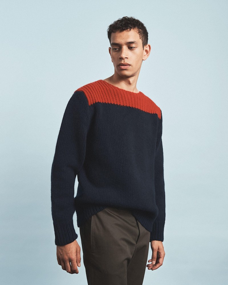 Marni Contrast-Panel Wool-Blend Sweater