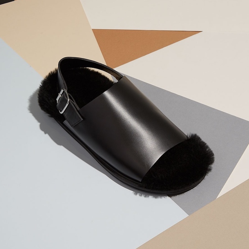 Marni Shearling-Lining Leather Sandals