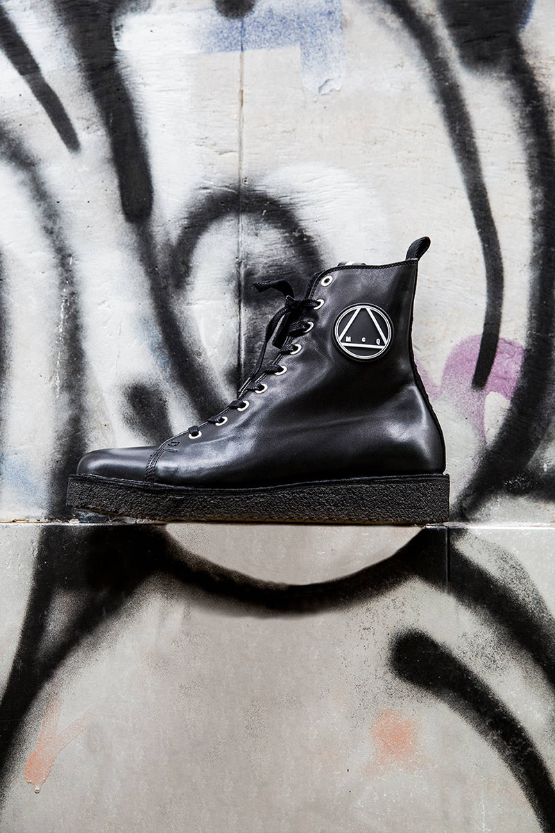 McQ Alexander McQueen McQ Logo High Top Leather Sneakers