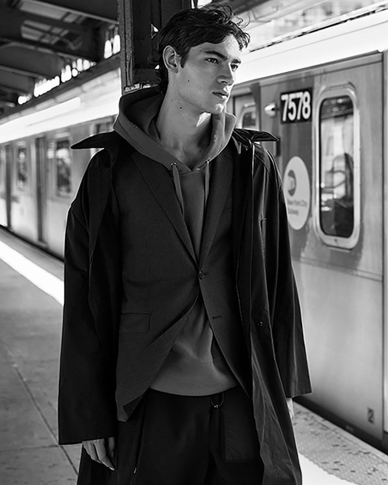 Craig Green Point-Collar Cotton-Blend Coat