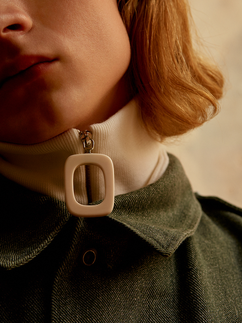J.W.Anderson Neckband with Zip Detail