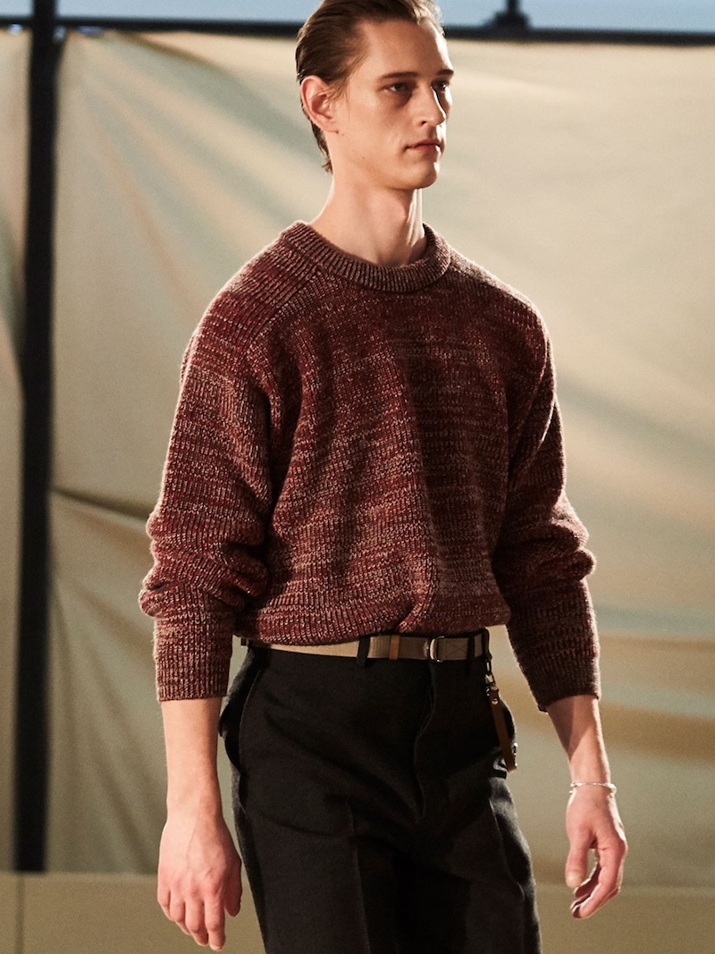 Lemaire Crew-Neck Wool-Knit Sweater
