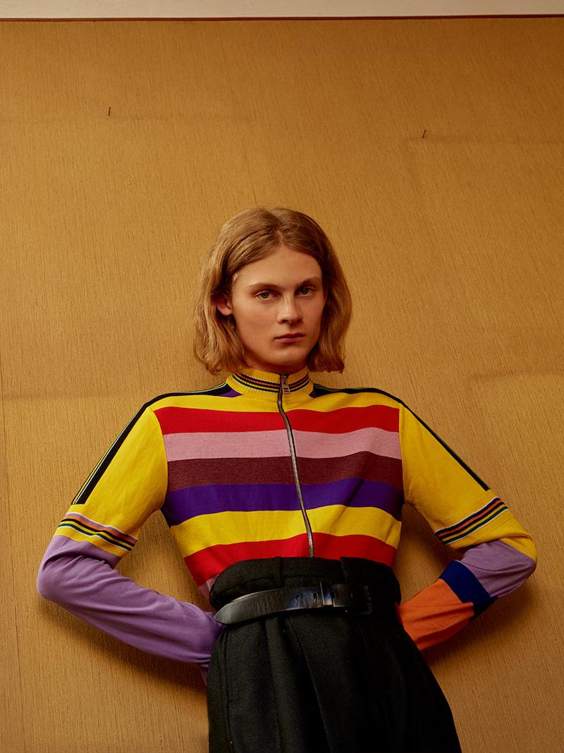 Loewe Zip Stripes Wool Knit Cardigan