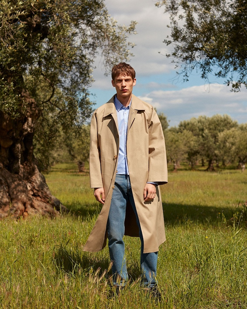 Mackintosh Single-Breasted Rubberised Trench Coat