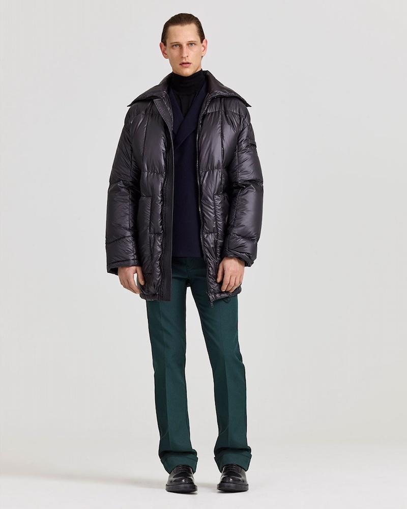 Prada Zip-Through Quilted Coat