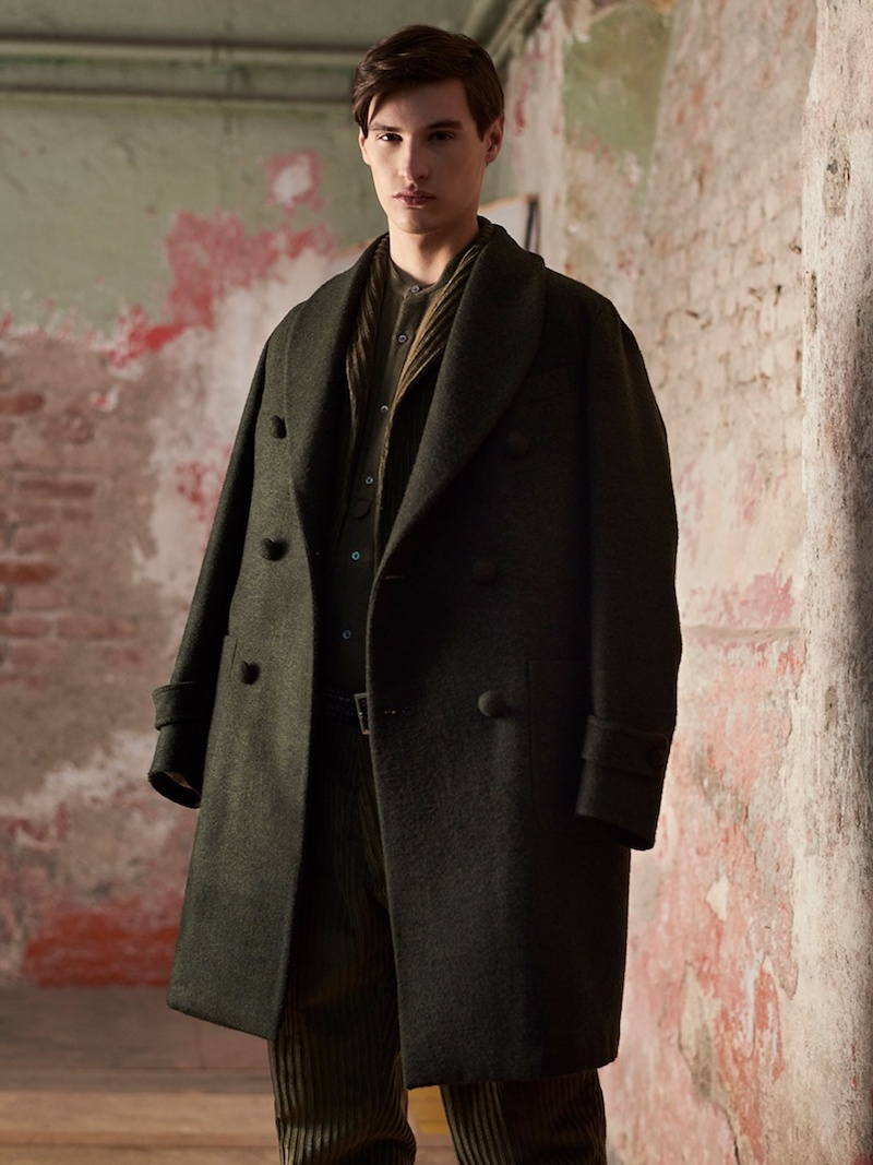 The Gigi Alcor Double-Breasted Wool-Blend Overcoat