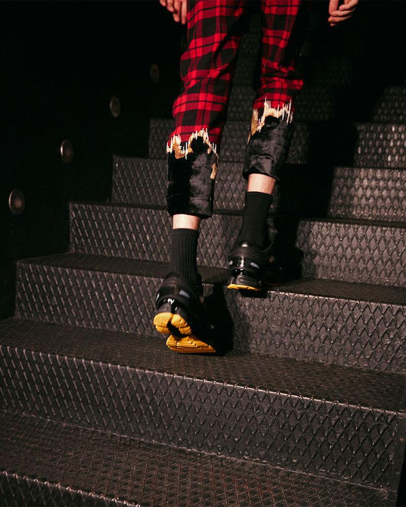 adidas by Raf Simons Ozweego III Canvas & Leather Sneakers