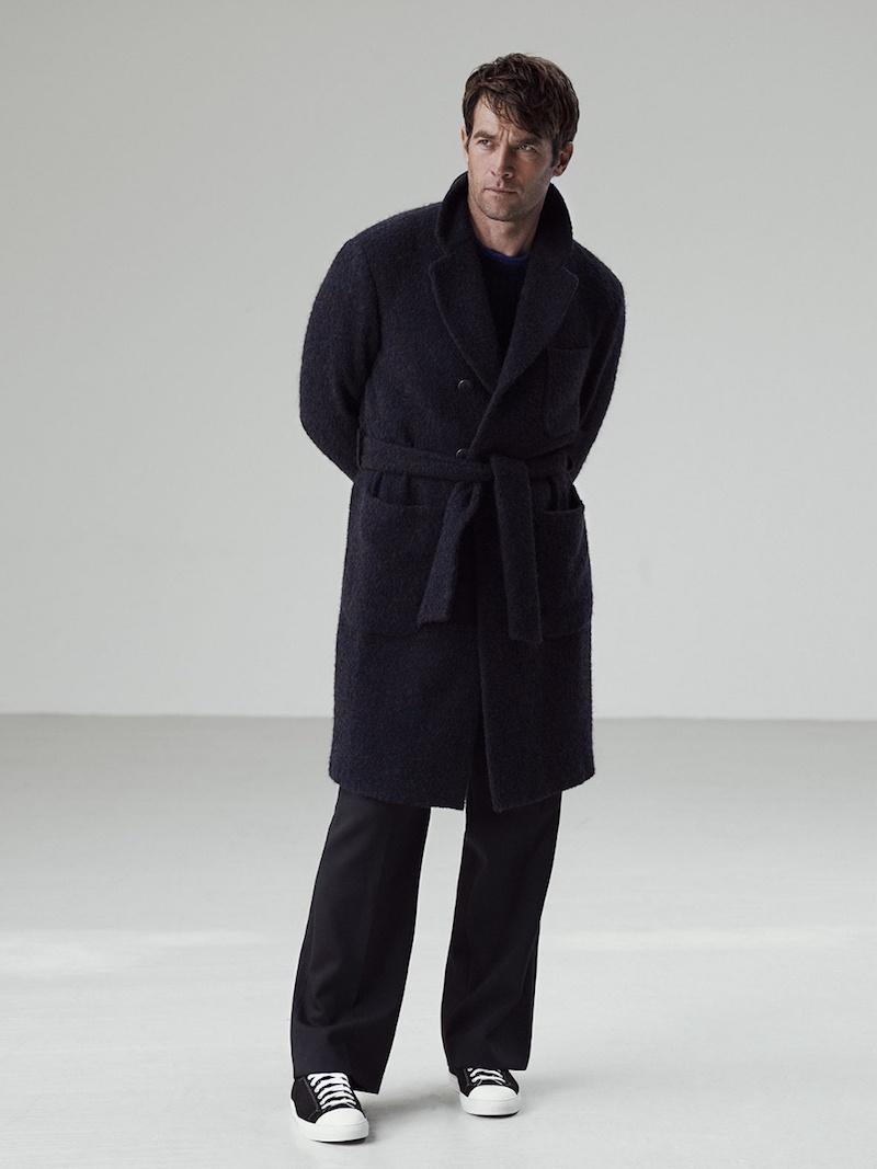 Giorgio Armani Double-Breasted Tie-Waist Coat