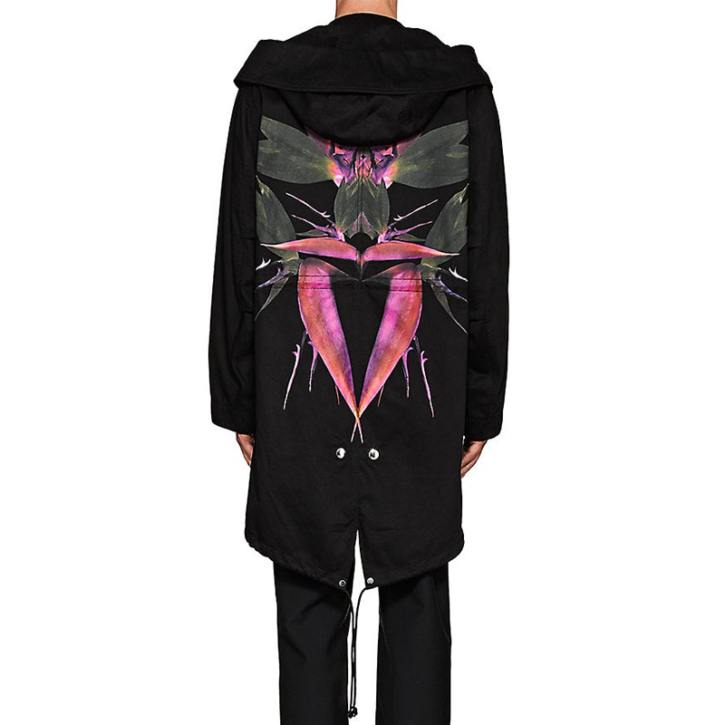 Givenchy Bird-Of-Paradise Cotton Parka