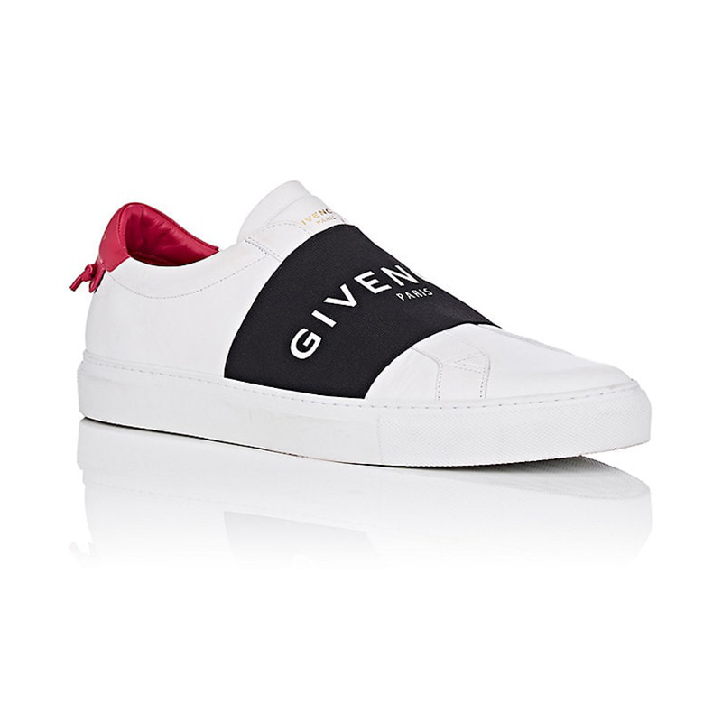 Givenchy Men's Logo-Band Leather Sneakers