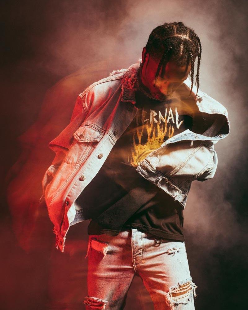 Ksubi x Travis Scott Ghosted Distressed Denim Jacket