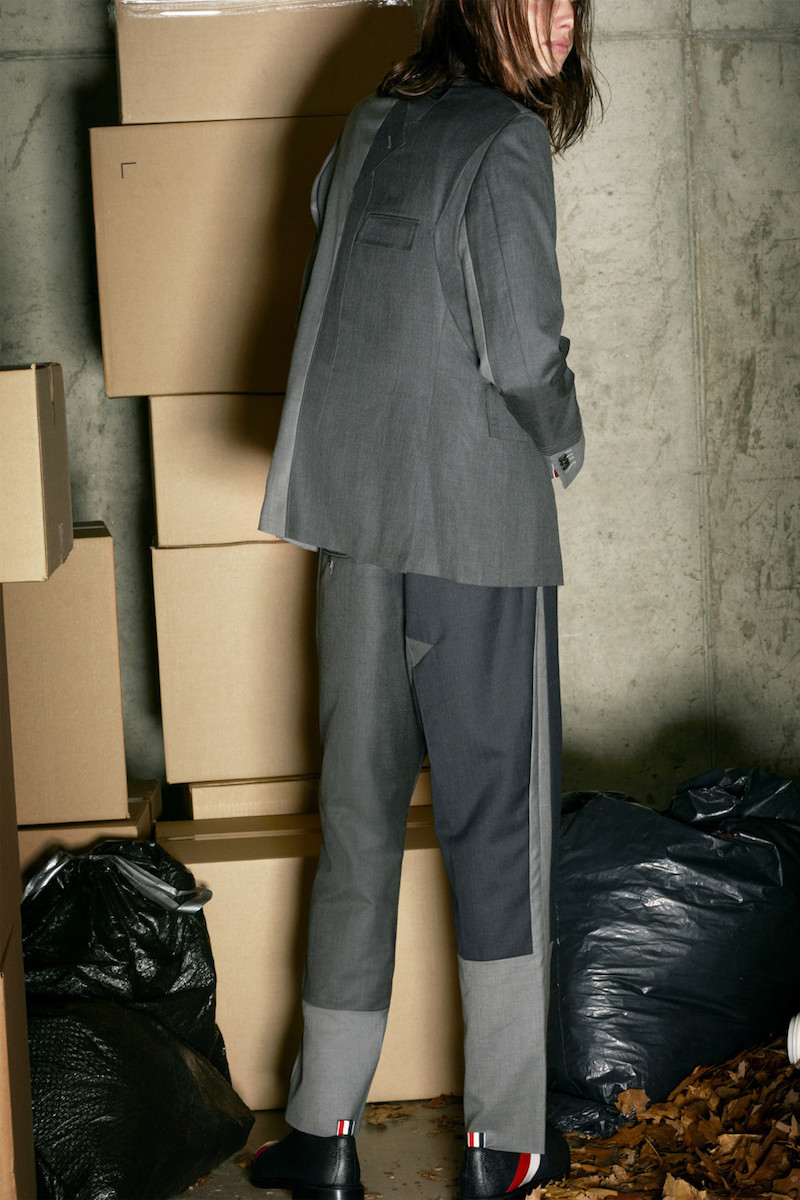 Thom Browne Grey Pattern Patchwork Backstrap Trousers