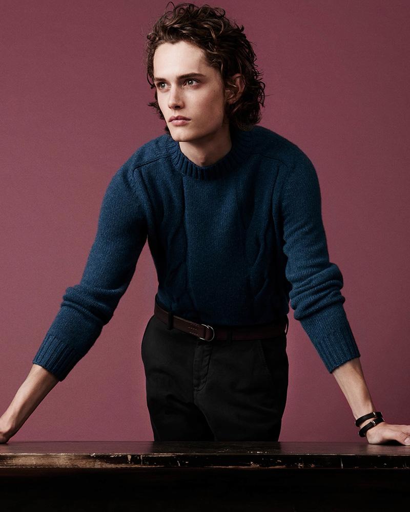 Barneys New York Cashmere Mock-Turtleneck Sweater
