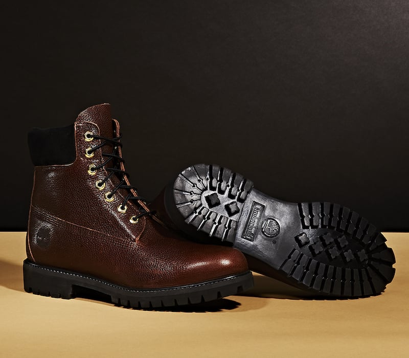 "BNY Sole Series x Timberland Dark Brown ""6-Inch"" Grained Leather Boots"