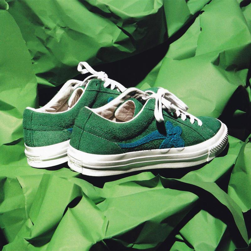Converse x Tyler, The Creator Golf le Fleur* Suede Low Top Sneaker in Jolly Green