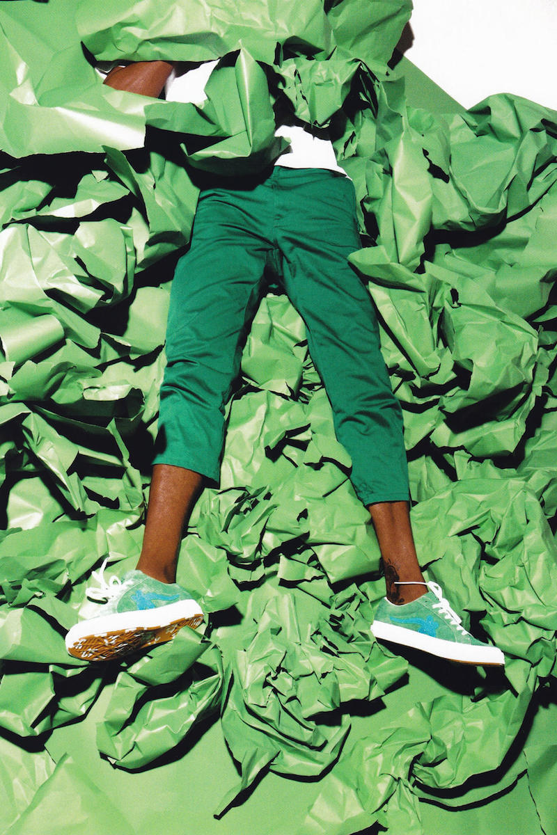 Converse x Tyler, The Creator Golf le Fleur* Suede Low Top Sneaker in Jolly Green