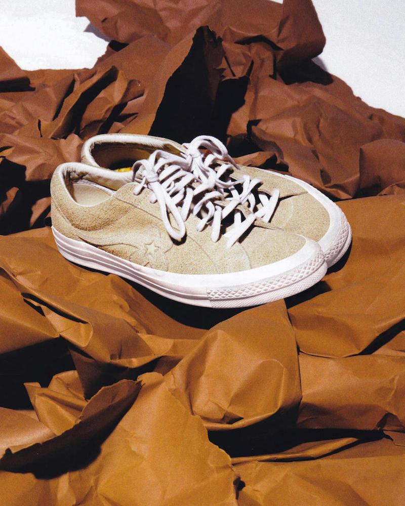 Converse x Tyler, The Creator Golf le Fleur* Suede Low Top Sneaker in Vanilla