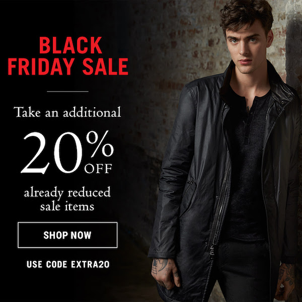John Varvatos Black Friday Sale 2017