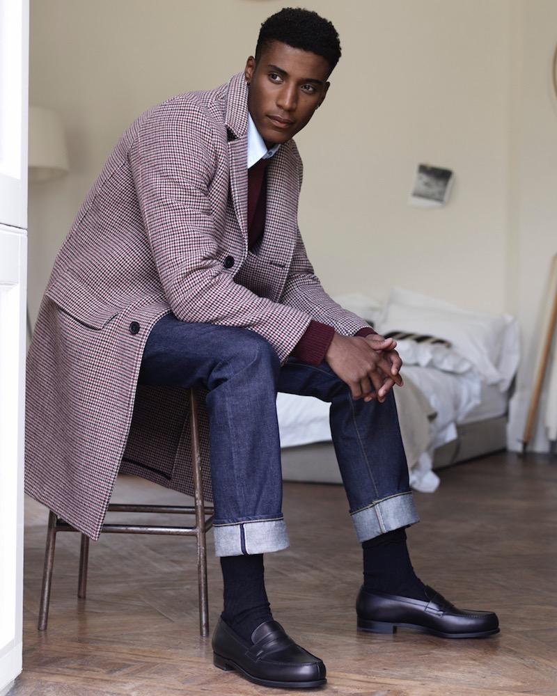 Mr P. Houndstooth Virgin Wool Coat