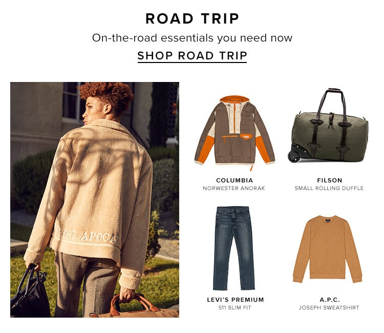 Road trip. On-the-road essentials you need now. Shop road trip.