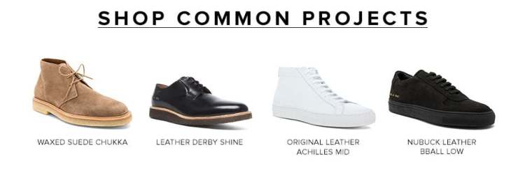 Shop Common Projects