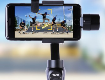 TARO TRACKING: Next Generation of Auto-Tracking Stabilizer for Smartphones and Cameras